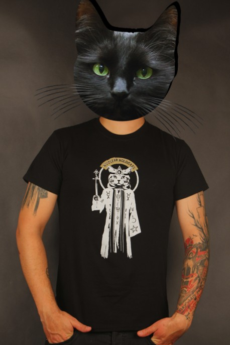 """T-shirt """"Meowcultist"""" black"""