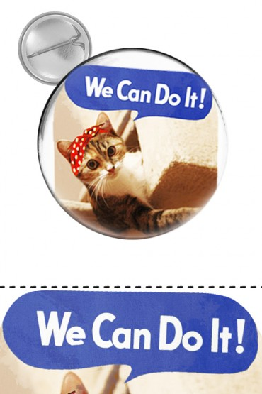 "Button ""We can do it!"""