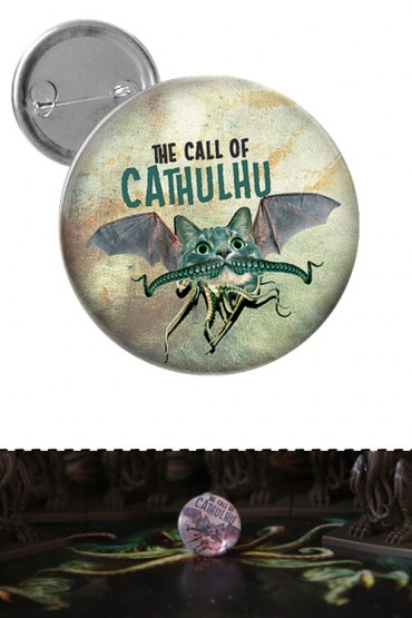 "Big button ""Call of Cathulhu"""