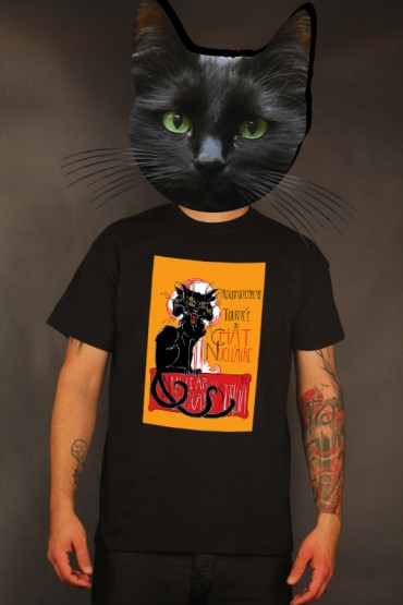 "Presale: T-shirt ""Chat Nucléaire"" black"