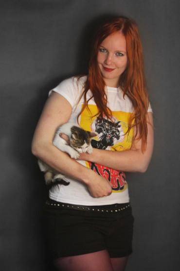 "T-shirt ""Chat Nucléaire""white"
