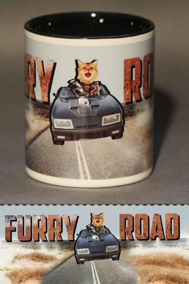 "Mug ""Furry road"""