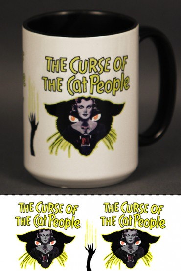 "Mug ""The Curse of Cat people"" 0,4l"