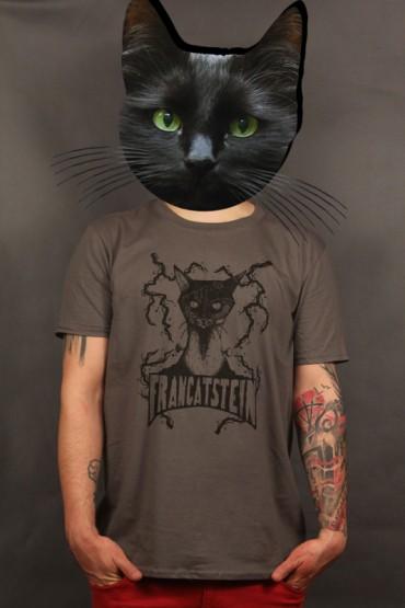 "T-shirt ""Francatstein"" charcoal"