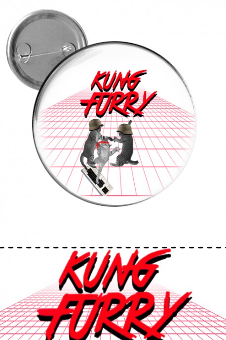 "Big button ""Kung Furry"""