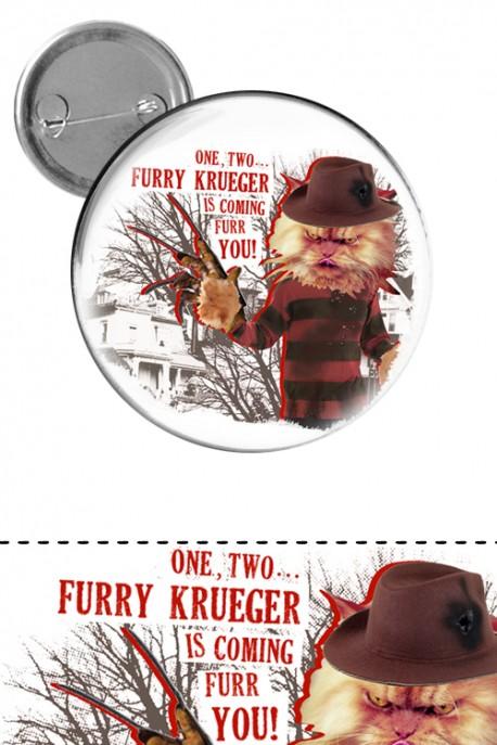 """Big button """"Furry Krueger"""""""