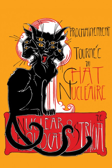 """A1 poster """"Chat Nucleairé"""""""