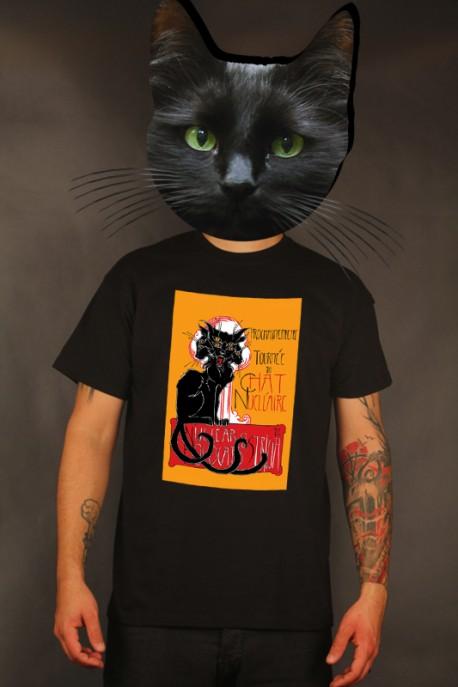 """Presale: T-shirt """"Chat Nucléaire"""" black"""