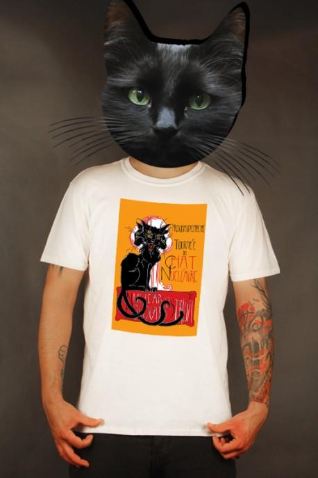 """Předprodej: tričko """"Chat Nucléaire"""" bílé"""