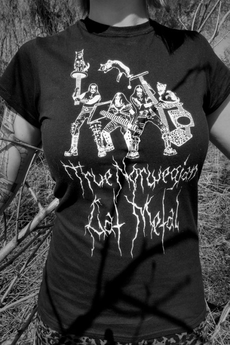 "T-shirt ""Cat Metal"" black"