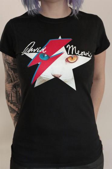 "tričko ""David Meowie"" černé"