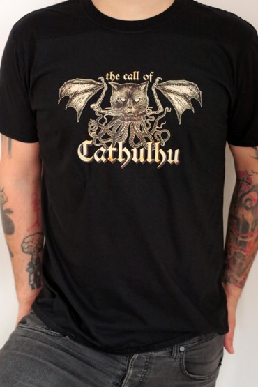 "T-shirt ""Call of Cathulhu"" black"